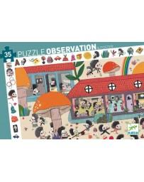 L'ECOLE DES HERISSONS - PUZZLE D'OBSERVATION - DJECO