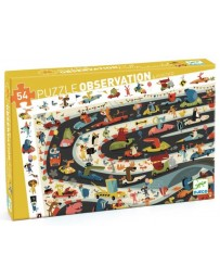 RALLYE AUTOMOBILE - PUZZLE D'OBSERVATION - DJECO