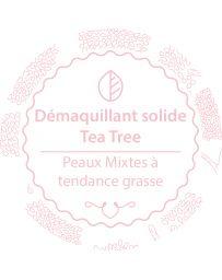 Démaquillant solide - TEA TREE - Peaux mixtes à tendance grasse - AUTOUR DU BAIN