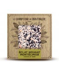 TABLETTE DE CHOCOLAT NOIR - NOUGAT DE MONTELIMAR - 80G - LE COMPTOIR DE MATHILDE
