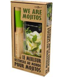 Kit WE ARE MOJITO - 1 Pillon 4en1 + 2 pailles en verre + 1 livre de recette - COOKUT