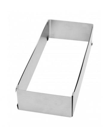 Cadre pâtissier rectangle extensible en INOX - SCRAPCOOKING