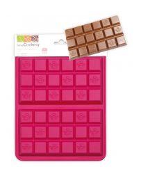 MOULE POUR CHOCOLAT EN SILICONE - TABLETTES DE CHOCOLAT - SCRAPCOOKING