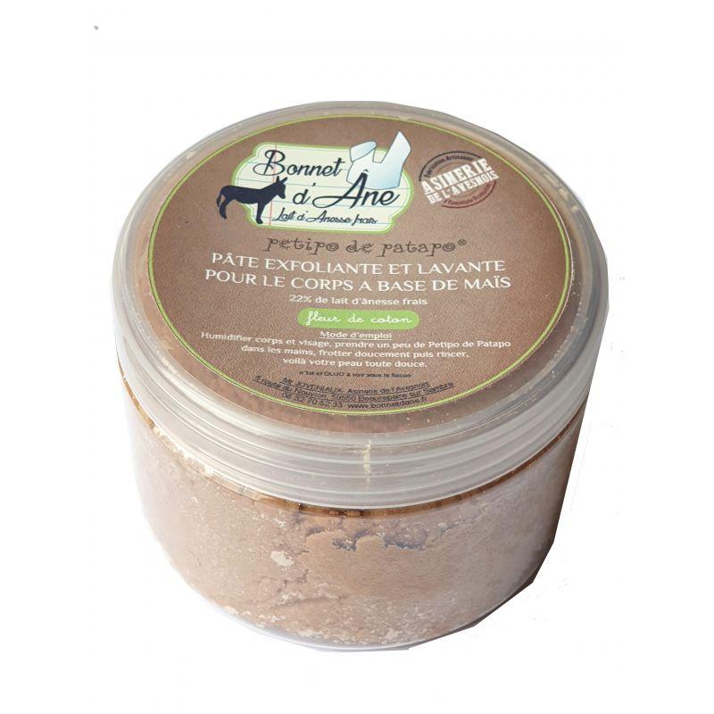 Pâte lavante exfoliante - Fleur de Coton - Au lait d'ânesse - BONNET D'ÂNE - ASINERIE DE L'AVESNOIS