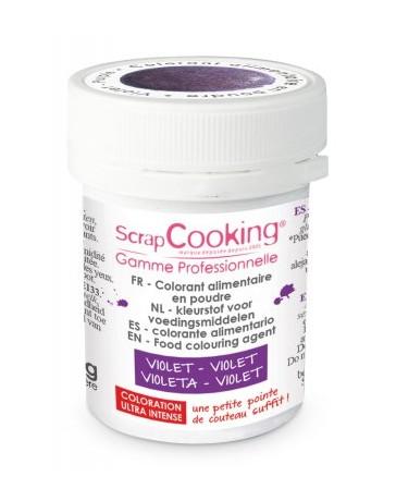 Colorant alimentaire en poudre - violet - 5g - SCRAPCOOKING
