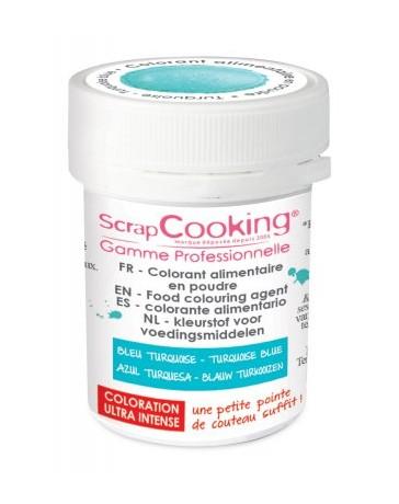 Colorant alimentaire en poudre - turquoise - 5g