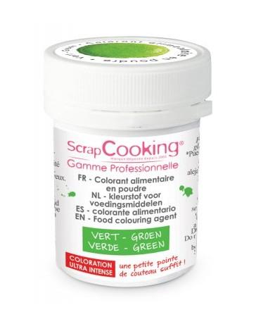 Colorant alimentaire en poudre - vert - 5g - SCRAPCOOKING