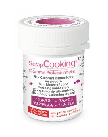 Colorant alimentaire en poudre - pourpre - 5g - SCRAPCOOKING
