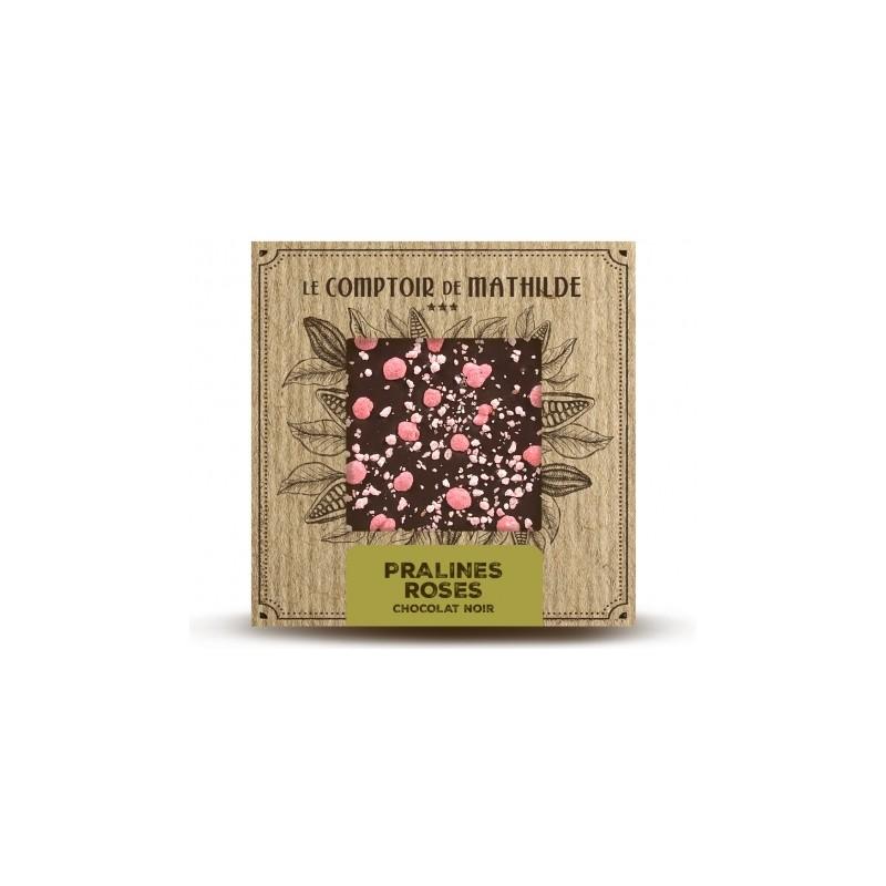 Tablette chocolat noir pralines roses lyon comptoir de - Le comptoir de mathilde lyon ...