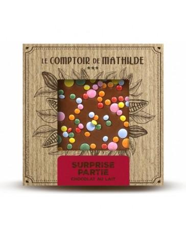 TABLETTE CHOCOLAT AU LAIT - SURPRISE PARTIE - LE COMPTOIR DE MATHILDE
