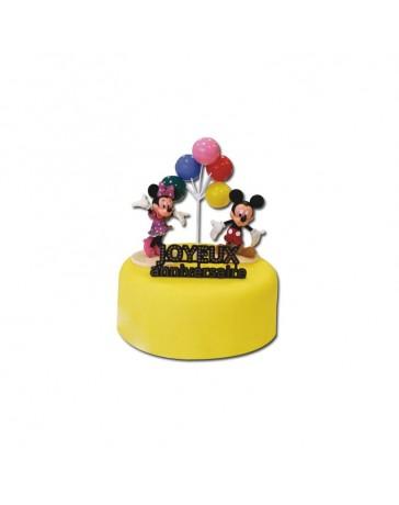 Kit de décoration gâteau - MICKEY & MINNIE - CERFDELLIER
