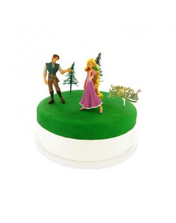 Kit de décoration gâteau - RAIPONCE - CERFDELLIER