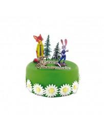 Kit de décoration gâteau - ZOOTOPIE - CERFDELLIER