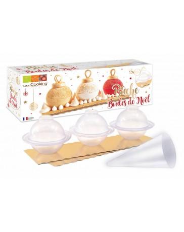 Kit Bûche boules de Noël - SCRAPCOOKING