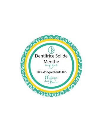 DENTIFRICE SOLIDE - AUX DEUX MENTHES - 30ML - AUTOUR DU BAIN
