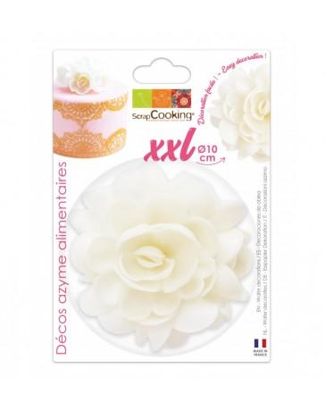 Fleur AZYME blanche XXL - 10 CM - SCRAPCOOKING