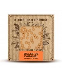 TABLETTE CHOCOLAT BLOND - BILLES DE CARAMEL - LE COMPTOIR DE MATHILDE
