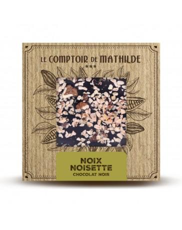 TABLETTE DE CHOCOLAT NOIR - NOIX/NOISETTES - LE COMPTOIR DE MATHILDE