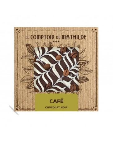 TABLETTE DE CHOCOLAT NOIR - CAFE/CREME - LE COMPTOIR DE MATHILDE