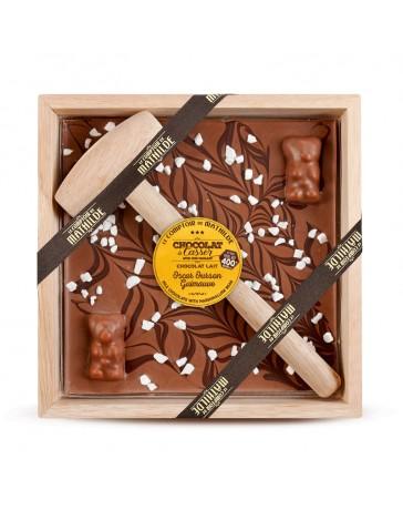 CHOCOLAT À CASSER - CHOCOLAT AU LAIT / OURSON GUIMAUVE - LE COMPTOIR DE MATHILDE
