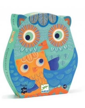 COUCOU HIBOU - PUZZLE SILHOUETTE - DJECO